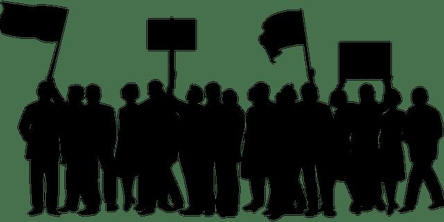 Ett demonstrationståg